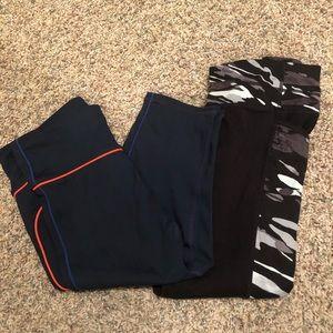 XS gap and athleta capris leggings EUC